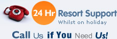 24 hours resort support while on holiday